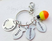 Daddy's Keepers Customizable Key Chain Gift Set (includes 3 fish charms)