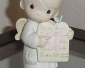 1989 PRECIOUS MOMENTS Samuel Butcher The Greatest Of These Is Love Vintage Angel Figurine