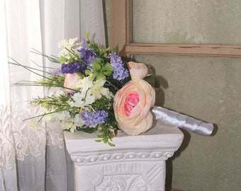 Lovely Pastel Pink, Purple, White, Lavender Bouquet