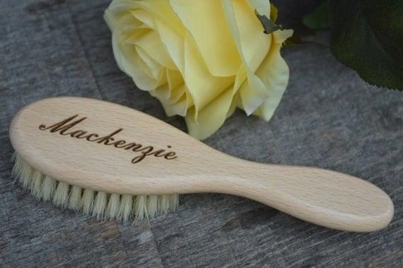 Personalized Hair Brush Baby Brush Natural Hairbrush Baby