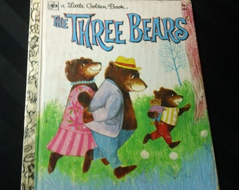 The Three Bears by Mabel Watts and Illustrated by June Goldsborough  ~ Vintage 1978 Children's Little Golden Book No. 204