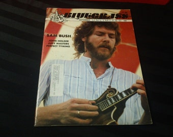 Bluegrass Unlimited Vol. 24, No. 3 (September 1989) - Sam Bush cover ~ vintage 80s Music Magazine back issue