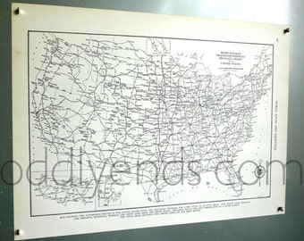 1939 Railroad System Vintage Atlas Map
