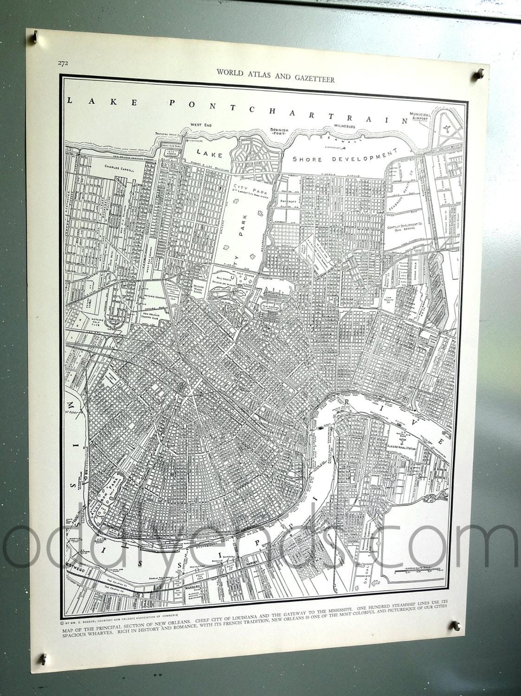 1939 New Orleans Louisiana Vintage City Atlas Map