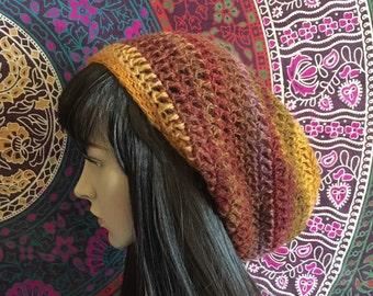 Slouch Beanie, Crochet Beanie, Flower in the Sun Slouch Beanie, Slouch Hat, Womens Beanie, Slouchy Hat, Womens Slouch Hat, Crochet hat