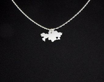 Kazakhstan Necklace - Kazakhstan Jewelry - Kazakhstan Gift