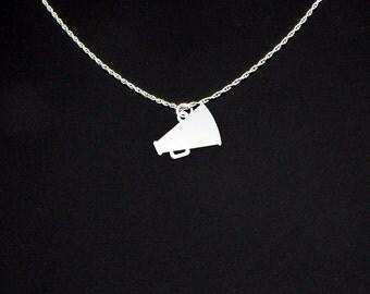 Megaphone Necklace - Cheerleader Necklace - Cheerleader Jewelry - Cheerleader Gift - Megaphone Jewelry - Megaphone Gift