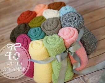40 stretch knit wrap, newborn stretch wrap, colored stretchy wraps, baby prop wrap, flash sale, wrap sale, photography wraps, wrap sale