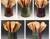 Made to Order Kitchen Utensil Holder - Wine Chiller - Pottery Jar - Choose your Color -Ceramics -Pottery - Stoneware