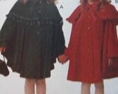 Lil' Cape Cutie! Girl's cape and hat pattern uncut! Butterick 3041