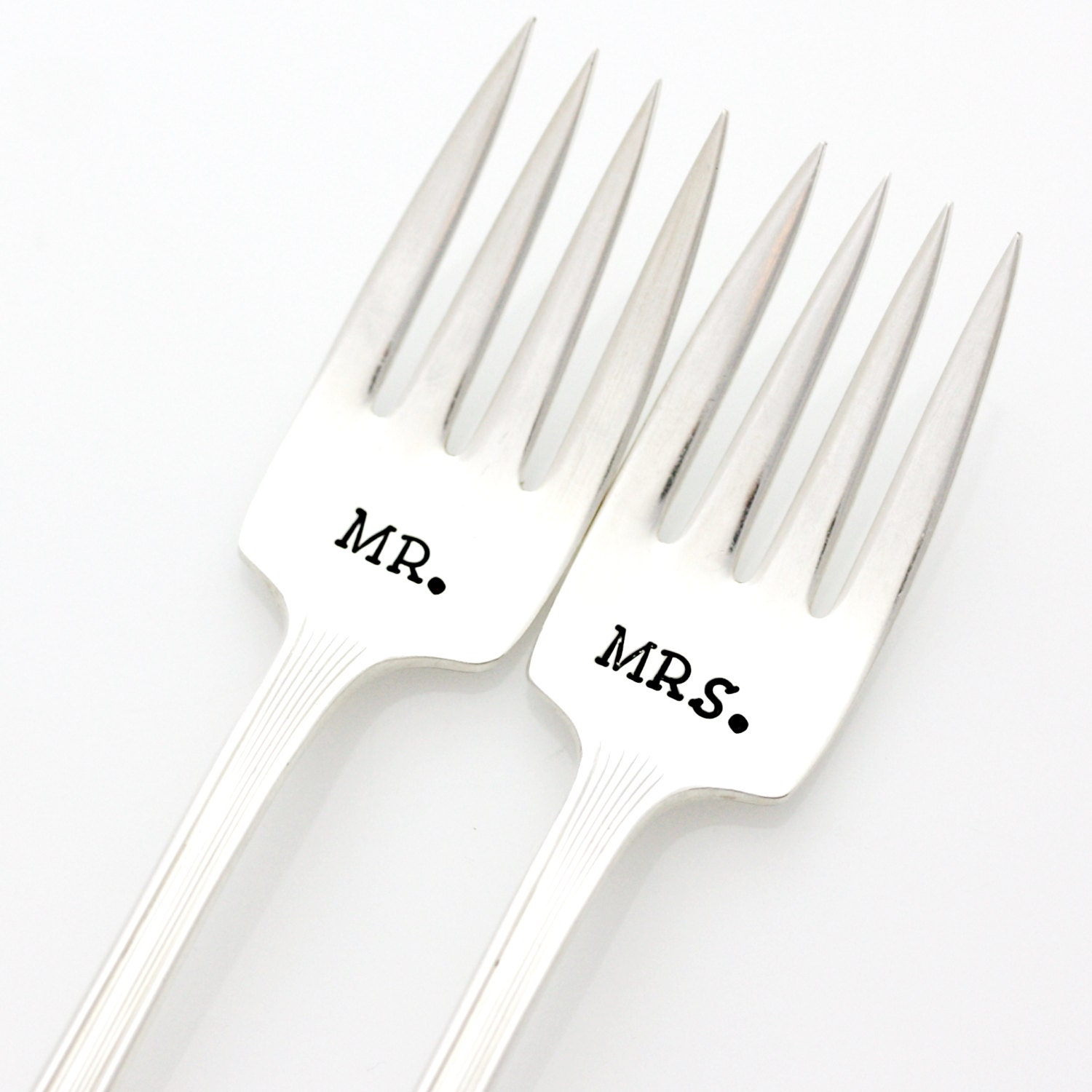 Mr And Mrs Table Setting Hand Stamped By MilkandHoneyLuxuries
