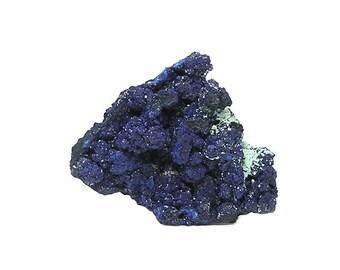 Azurite Sparkly Blue Crystal Azurite Druzy Botryoidal Mineral Specimen with Malachite Gemstone from Emma Mine New Mexico Wear it, Display it