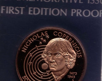 Bronze Medal Copernicus First Edition Proof Franklin Bronze