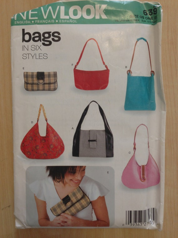 Simplicity New Look Sewing Pattern 6397 Hand Bags and Purses in Six Styles Uncut