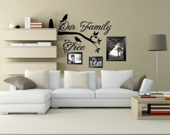 Family Tree Decal, Our Family Tree, Photo Wall, Picture Wall, Family Photo Decal, Family Wall Decal, Family Photo Decor - WD0126