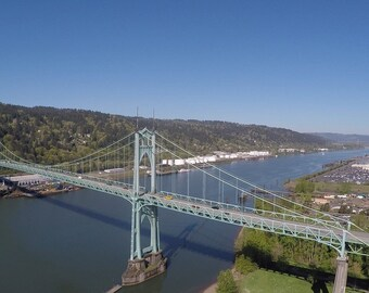 St. John's Bridge Portland Aerial Photo
