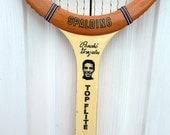 Spalding Pancho Gonzales Tennis Racquet Wood Wooden Top Flite Sports Theme Wall Art Decor