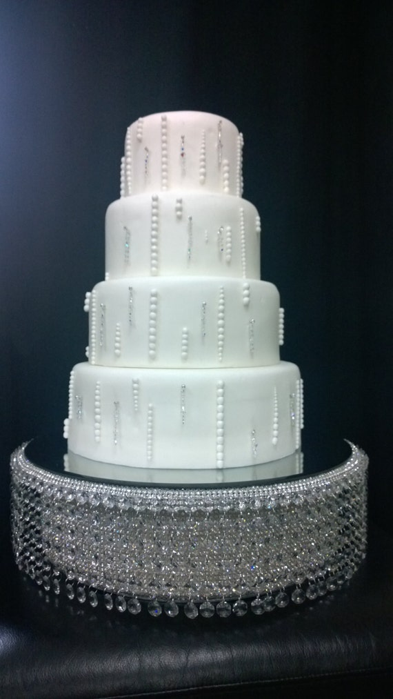 jeweled wedding cake stands real rhinestone waterfall design wedding cake stand 16595