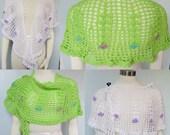 Pattern only - Blooming Vines Crescent Shawl pattern crochet pattern shawlette