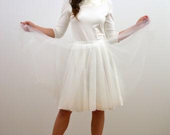 """tulle skirt """"Madeleine"""" bridal white,petticoat,satin"""