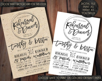 Rehearsal Dinner Invitation, Rustic Rehearsal Dinner Invitation- Rustic Wedding, Chic Cottage Wedding//Rehearsal Dinner Invitation, Wedding