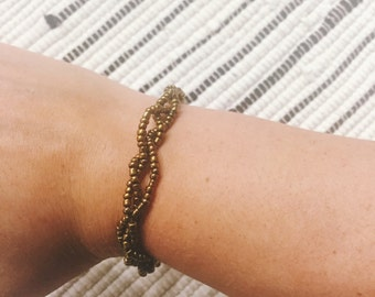 Gold Braided Bracelet