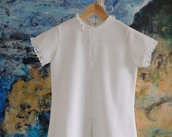 Girls Dress, Girls Vintage Dress, Girls White Dress, Girls Summer Dress, Communion Dress, Vintage Girls Dress