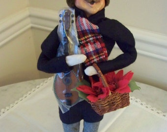 Reduced!Christmas-Byers Choice man with mandolin