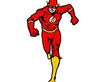 The Flash Superhero DC Comic Book Fan Super Speed Hero Iron-On Applique Patch