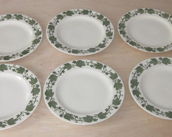 6 Vintage Royal China English Ivy Dinner Plates