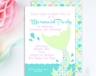 Mermaid Under the Sea Invitations