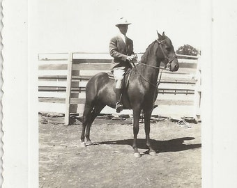 Equitation 2.0 - Vintage 1930s Gentleman Equestrian and Horse Photograph