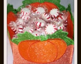 Pumpkin lace Basket, Handmade Basket,Embroidered Basket, Lace Bowl
