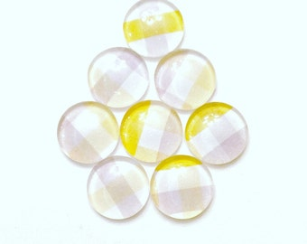 Glass Push Pins - yellow  Push pins - Pretty Push Pins - Pretty Thumbtacks - office accessories- office supplies - message boards