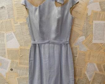 1950s Mod Powder Blue Wiggle Dress