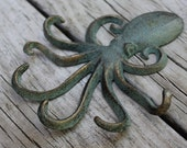 Octopus Jewelry Display - Wall Hook - Cast Iron Wall Hooks - Jewelry Storage - Beach Decor - Beach House Decor - Ring Tree - Necklace Holder