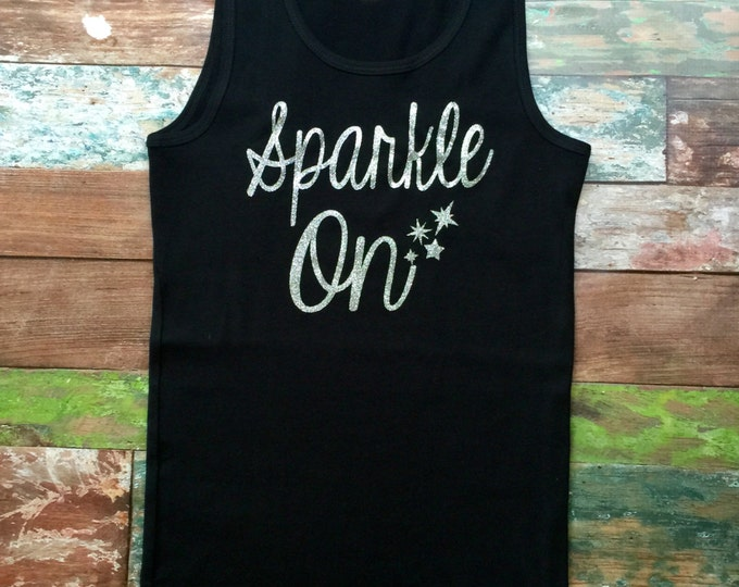 Sparkle Tank Top, Glitter Tank top, Custom Tank Tops, Group Discounts, Bachelorette Party, Cheer Tank tops