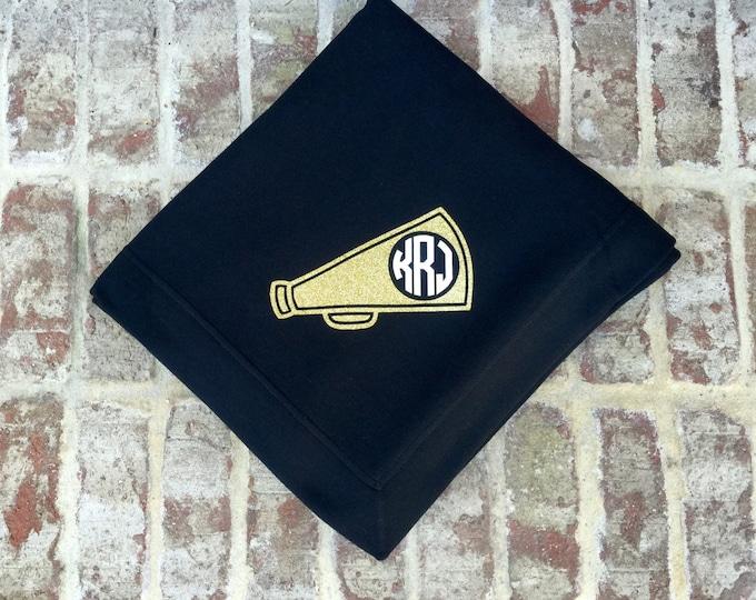 Monogrammed Throw blanket, Monogrammed blanket, Monogrammed gifts for Cheerleaders, Stadium Blanket, Cheer team gifts