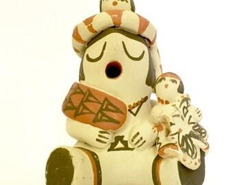 Vintage Anita Toya Jemez Clay Pottery Art Figurine