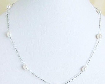 freshwater cultured pearls, Bridesmaids Necklaces, Pearl Necklaces, Bridesmaids Acessories, Wedding Jewelry,Bridesmaids Gifts pearl necklace