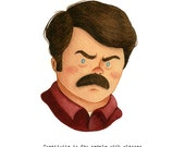 Ron Swason from Parks & Rec - open edition art print