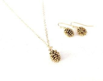 Pine cone Necklace, Gold, Rose Gold, Silver Pinecone Necklace, Pine Cone Necklace, Pinecone Jewelry
