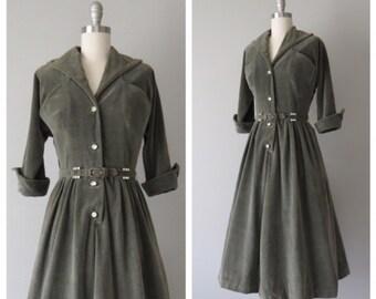 50s Jonathan Logan velveteen party dress size small / 50s velvet dress / 50s party dress / vintage party dress