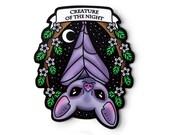 Creature of the Night Bat Sticker - Kawaii Original Art