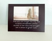 """Adventures of Claudia Antique China Doll Card """"Summer Breezes"""" Dolls Photography"""