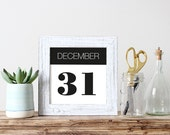 Anniversary Date Wall Art Printable Date Sign Personalized Last Minute Gift Custom Wedding Date Sign