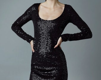 "sequin-dress ""galaxia"", black"