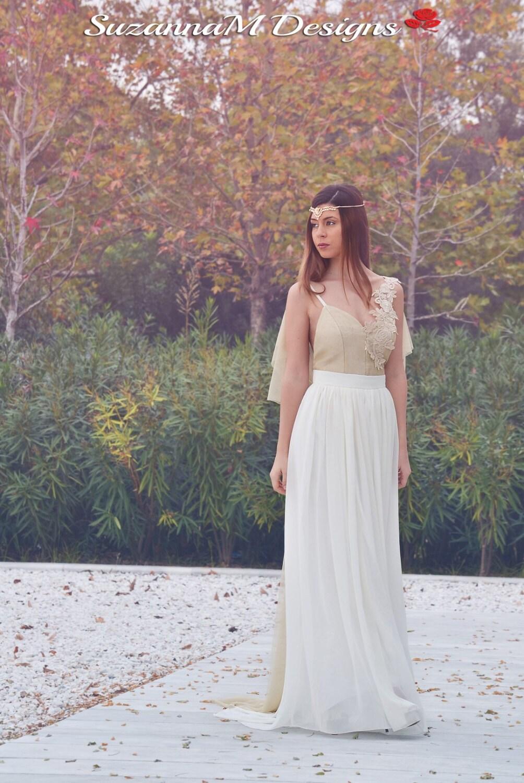 Handmade Wedding Dress SuzannaM Golden Gown Long