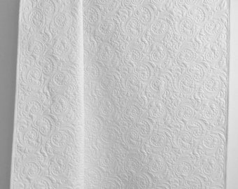 Baby Quilt Whole Cloth in White  - Christening Baptism Heirloom Quilt Solid White