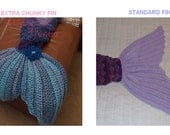 Made to order Crochet Mermaid Tail Blanket Choose Size